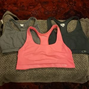 3 Womens Sports Bras  Large